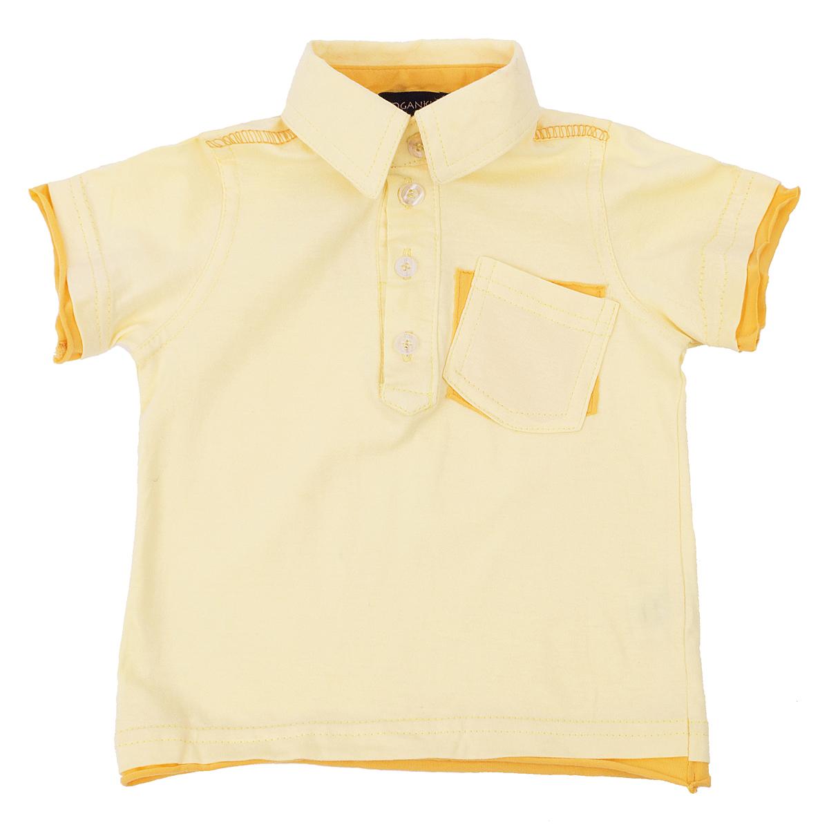 Рубашка-поло Kogankids<br>Размер: 68, 74, 80, 86, 92; Цвет: Жёлтый;
