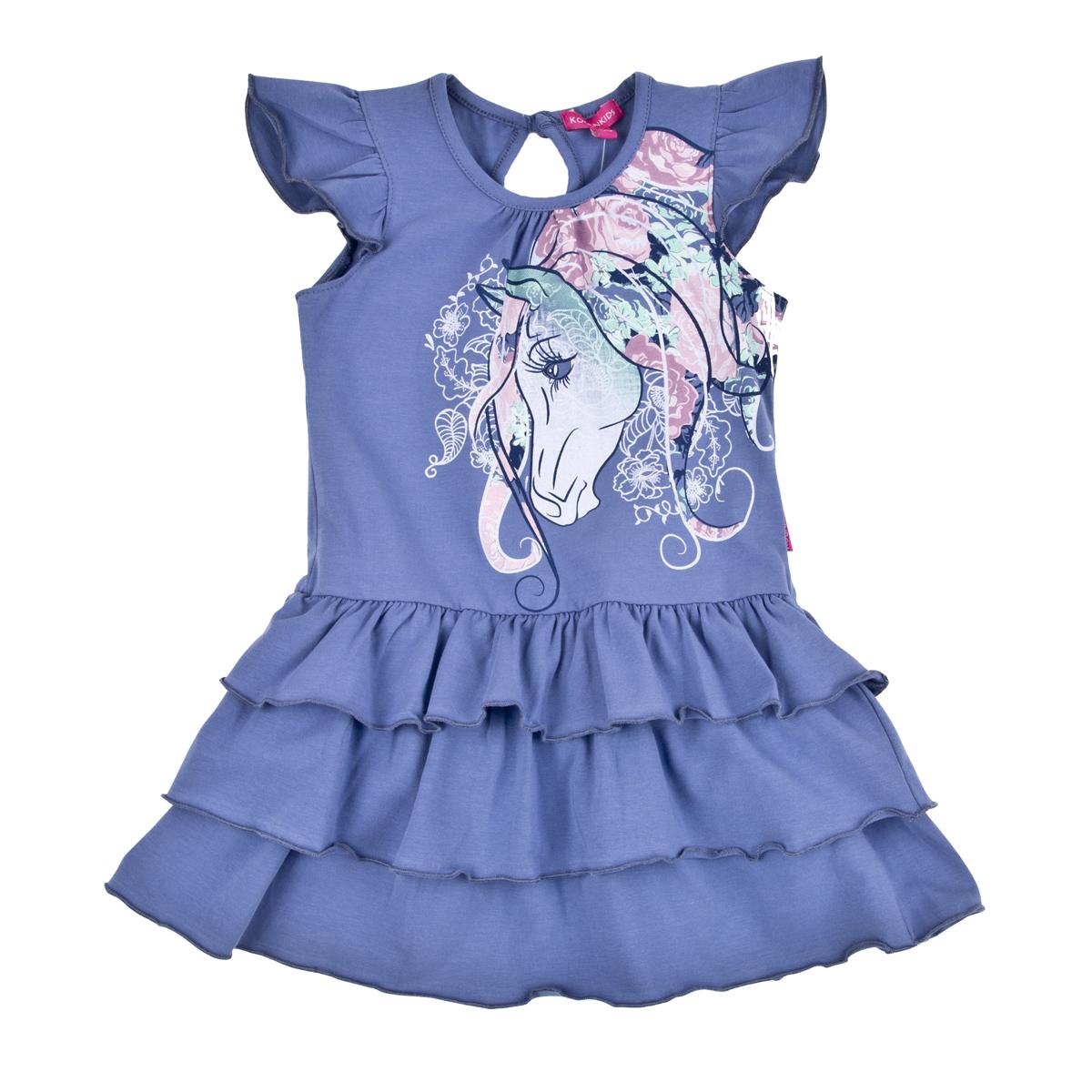 Платье Kogankids<br>Размер: 104, 110, 116, 122, 98; Цвет: Синий;