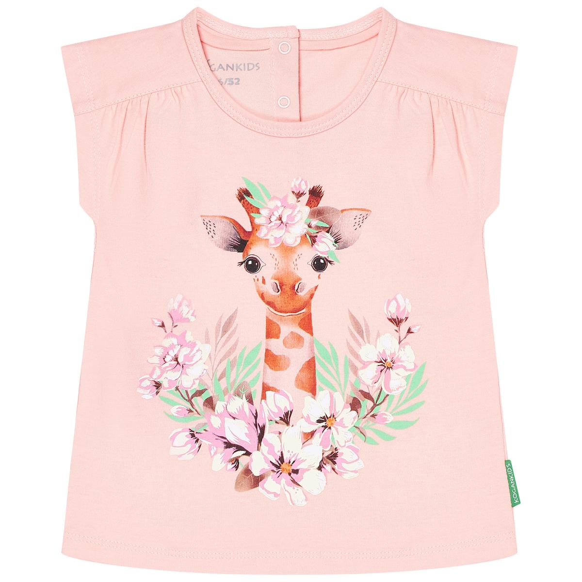 Розовая футболка для девочки