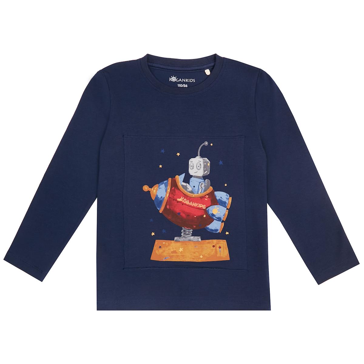 Тёмно-синий джемпер для мальчика с роботом
