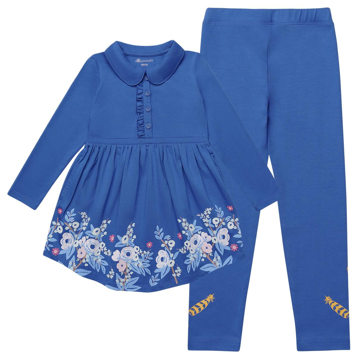 Комплект для девочки из платья и леггинс