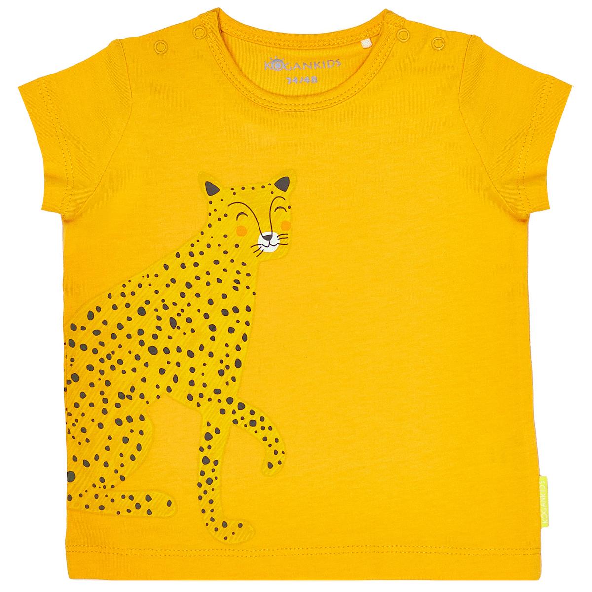 Желтая футболка для мальчика