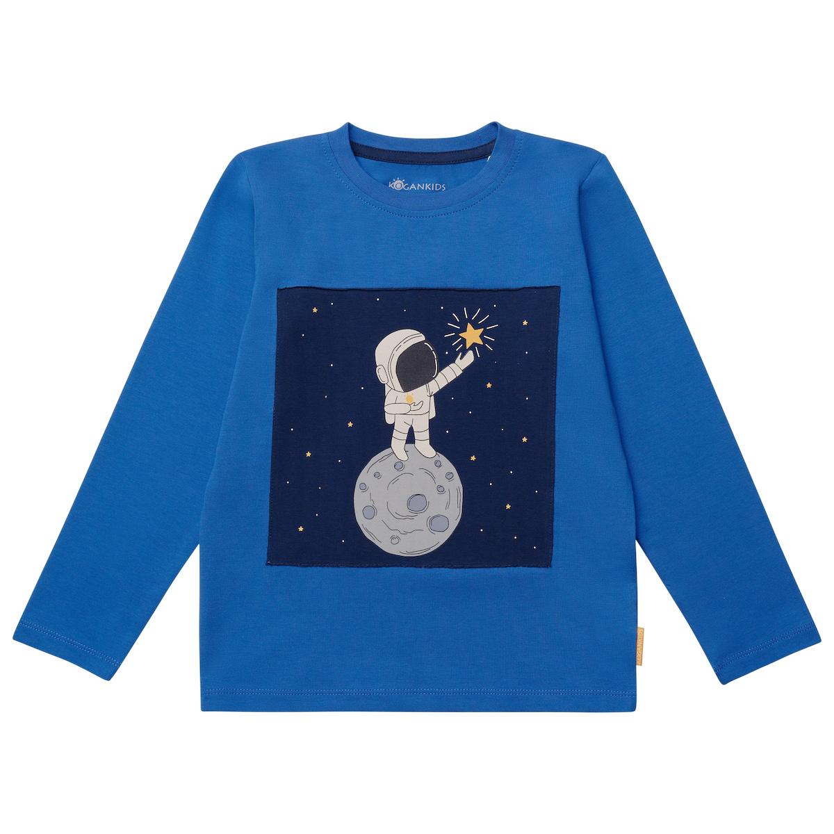 Синий джемпер для мальчика с космонавтом