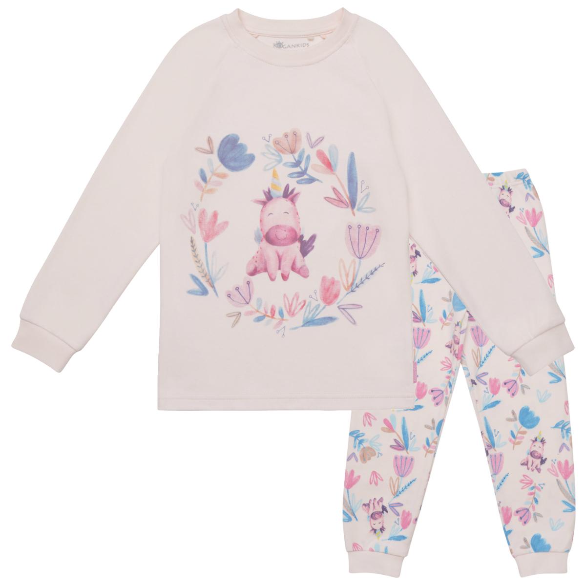 """Пижама для девочки """"Единорог в цветах"""""""