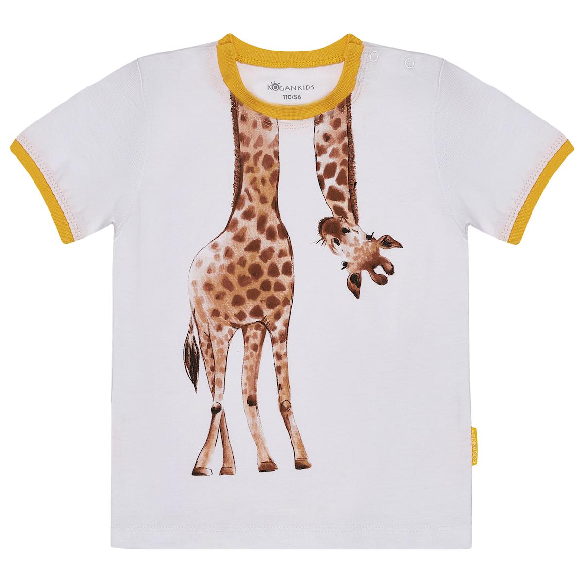Футболка для мальчика с жирафом
