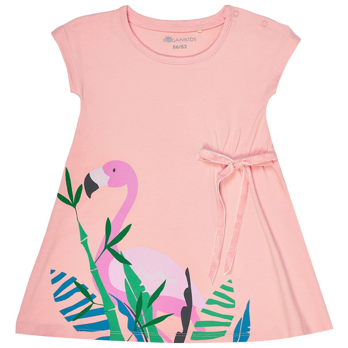 Платье для девочки с фламинго