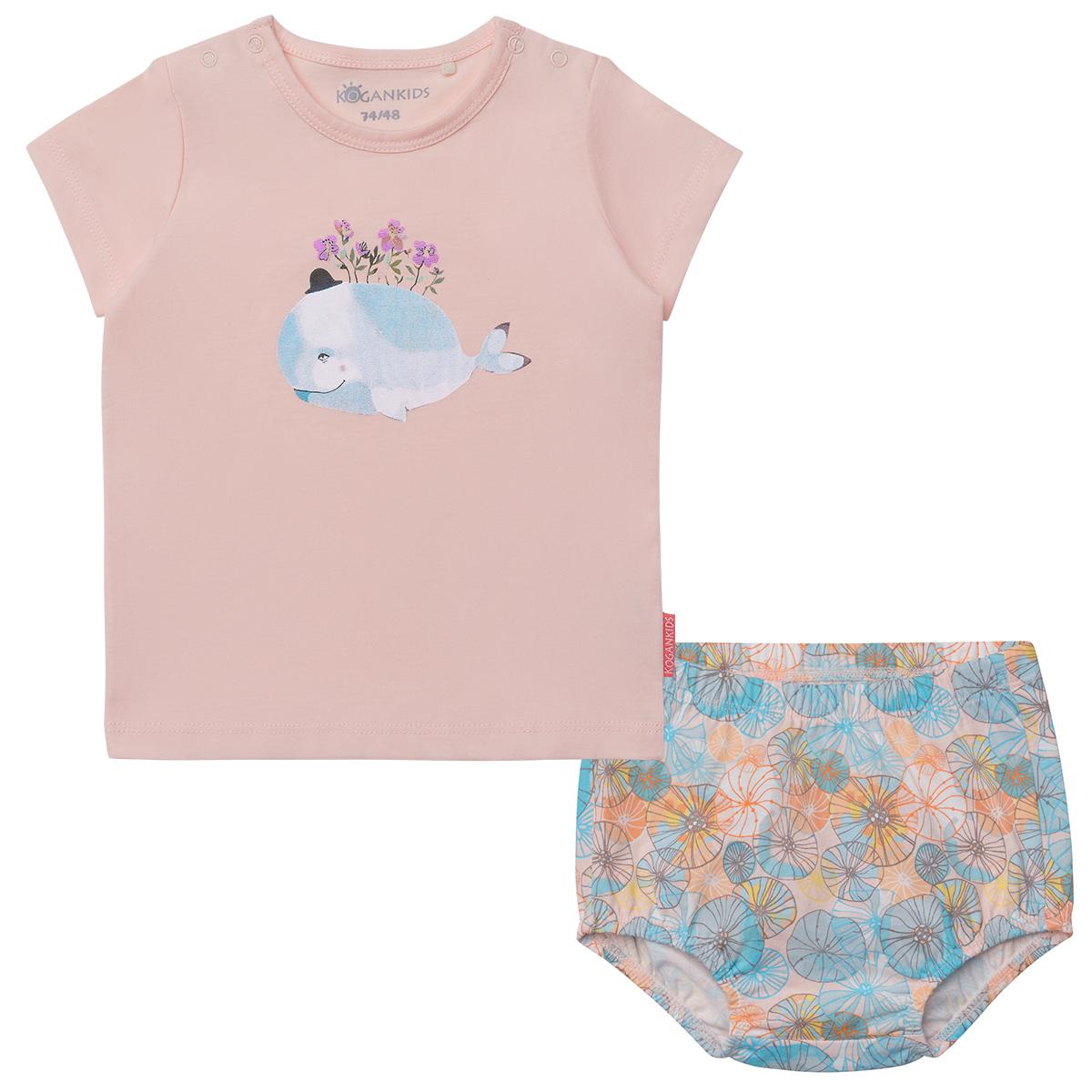Комплект для девочки из футболки и трусов-шортиков