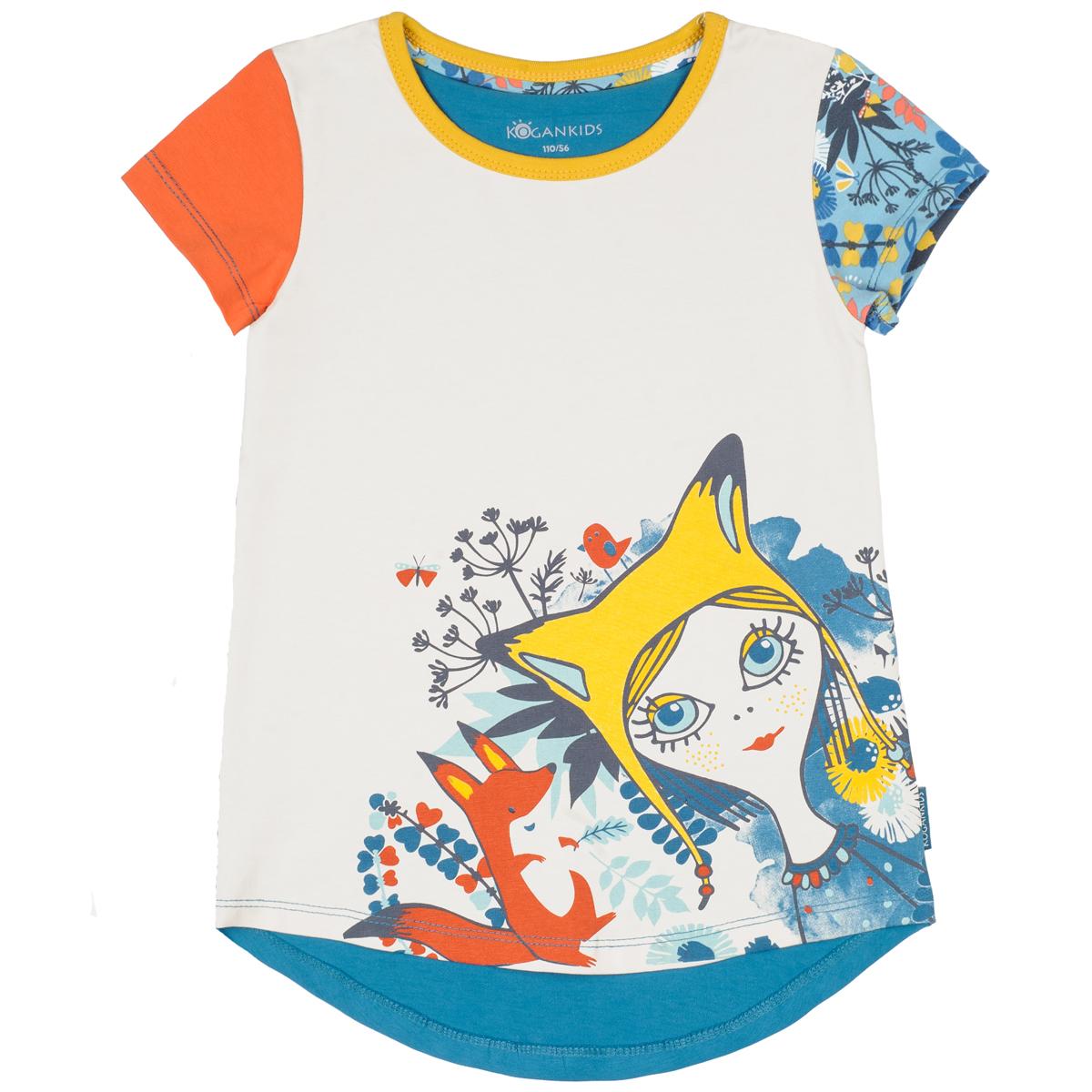 Футболка KogankidsКомбинированная футболка для девочки выполнена из натурального хлопка. Удлиненная спинка. Сочетайте с леггинсами или джинсами. Для маленьких размеров 80-98 предусмотрена плечевая застежка на кнопки для удобства одевания.<br>Размер: 104, 110, 116, 122, 128, 134, 140, 80, 86, 92, 98; Цвет: Серый;
