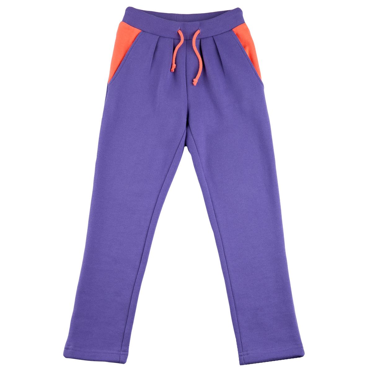 Брюки KogankidsМодные и удобные брюки для девочки из плотного хлопка позволят обеспечить только приятные и комфортные прогулки. Практичные, подходят на каждый день.<br>Размер: 104, 110, 116, 122, 128, 134, 140; Цвет: Фиолетовый;
