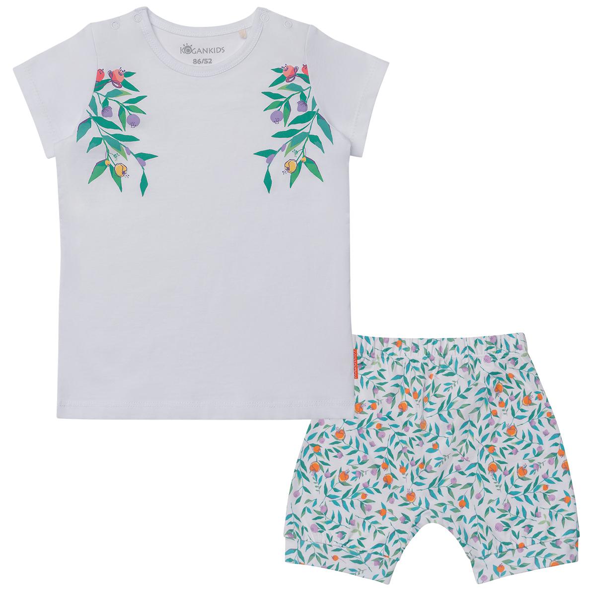 Комплект для девочки из футболки и шортиков