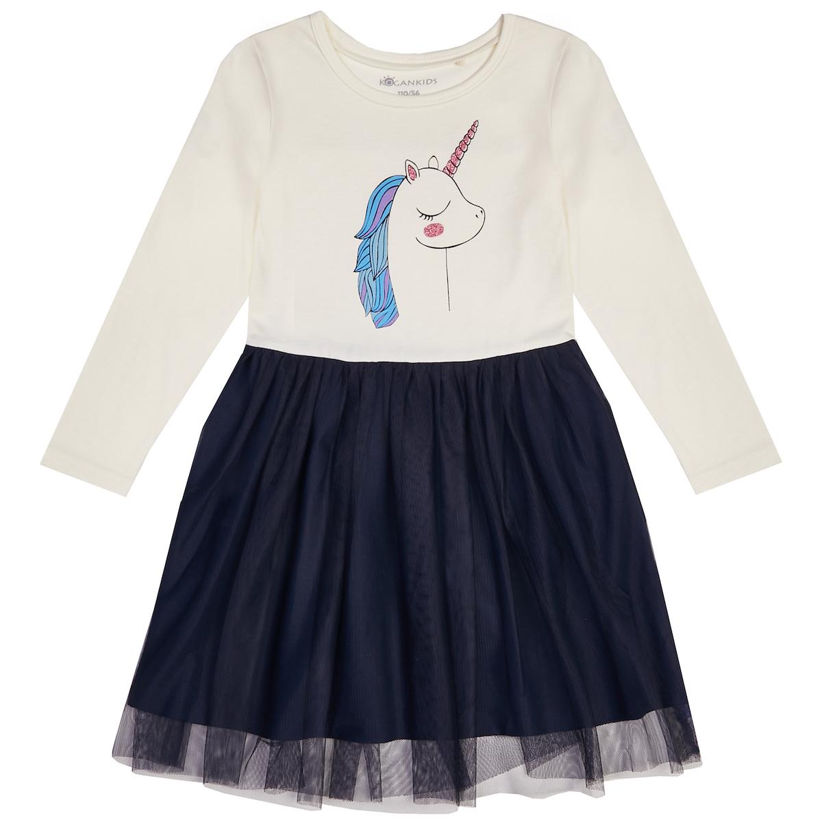 Платье для девочки с единорогом