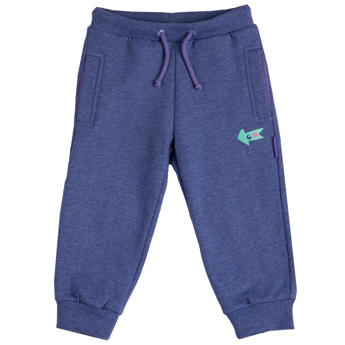 Брюки KogankidsБрюки с начесом на резинке с поясом-шнурок выполнены из футерного полотна. Станут незаменимой вещью повседневного гардероба малыша, а также обеспечат максимальный комфорт и тепло во время носки.<br>Размер: 86; Цвет: Фиолетовый;